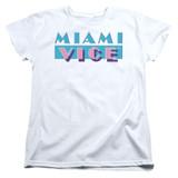 Miami Vice Logo Women's T-Shirt White