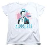Miami Vice Crockett Women's T-Shirt White