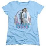 Miami Vice Miami Heat Women's T-Shirt Light Blue