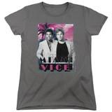 Miami Vice Gotchya Women's T-Shirt Charcoal