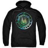 Battlestar Galactica (New) Galaxy Emblem Pullover Hoodie Sweatshirt Black