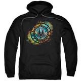 Battlestar Galactica (New) Emblem Knock Out Pullover Hoodie Sweatshirt Black