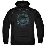 Battlestar Galactica (New) Faded Emblem Pullover Hoodie Sweatshirt Black