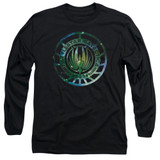 Battlestar Galactica (New) Galaxy Emblem Long Sleeve Adult 18/1 T-Shirt Black