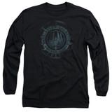 Battlestar Galactica (New) Faded Emblem Long Sleeve Adult 18/1 T-Shirt Black