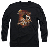 Battlestar Galactica (New) Vipers Stretch Long Sleeve Adult 18/1 T-Shirt Black