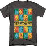 Battlestar Galactica 35th Anniversary Cast 18/1 T-Shirt Charcoal