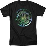 Battlestar Galactica (New) Galaxy Emblem 18/1 T-Shirt Black