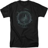 Battlestar Galactica (New) Faded Emblem 18/1 T-Shirt Black