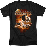 Battlestar Galactica (New) Vipers Stretch 18/1 T-Shirt Black
