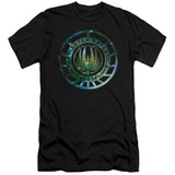 Battlestar Galactica (New) Galaxy Emblem 30/1 T-Shirt Black