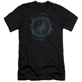 Battlestar Galactica (New) Faded Emblem 30/1 T-Shirt Black