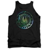 Battlestar Galactica (New) Galaxy Emblem Adult Tank Top Black