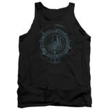Battlestar Galactica (New) Faded Emblem Adult Tank Top Black