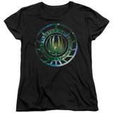 Battlestar Galactica (New) Galaxy Emblem Women's T-Shirt Black