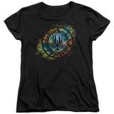 Battlestar Galactica (New) Emblem Knock Out Women's T-Shirt Black