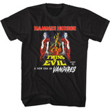 Hammer Horror Twins of Evil Poster Black Adult T-Shirt