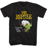 Hammer Horror The Reptile Face Black Adult T-Shirt