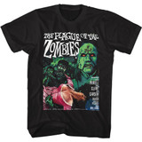 Hammer Horror Plague of the Zombies Black Adult T-Shirt