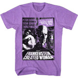 Hammer Horror Frankenstein Woman Poster Neon Purple Heather Adult T-Shirt