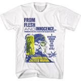 Hammer Horror Flesh and Innocence Frankenstein White Adult T-Shirt