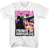 Hammer Horror Bright Dracula P.O.D. Poster White Adult T-Shirt