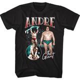 Andre The Giant Multi Scene Black T-Shirt