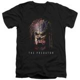 Predator 2018 Battle Paint Adult V-Neck 30/1 T-Shirt Black