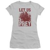 Predator 2018 Let Us Prey Junior Women's T-Shirt Sheer Silver