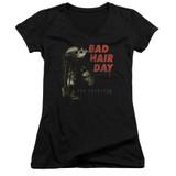 Predator 2018 Bad Hair Day Junior Women's V-Neck T-Shirt Black