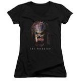 Predator 2018 Battle Paint Junior Women's V-Neck T-Shirt Black