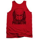 Predator Logo Adult Tank Top Red
