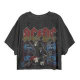 AC/DC Blow Up High Contrast Women's Vintage Crop Top T-Shirt