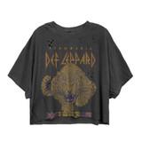 Def Leppard Tour 1983 Cat Women's Vintage Crop Top T-Shirt