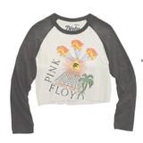 Pink Floyd All Seeing Eye Tour 77 Junior Women's Vintage Crop Raglan Baseball T-Shirt