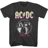 AC/DC Circle Stars Smoke Adult T-Shirt