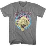 Def Leppard Pastel Leppard 2 Graphite Heather Adult T-Shirt