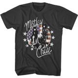 Motley Crue American Flag and Stars Smoke Adult T-Shirt