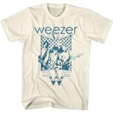 Weezer Blue Checkered Box Natural Adult T-Shirt