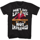 Anchorman Not Impressed Black T-Shirt