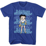Betty Boop Wildflowers Royal T-Shirt