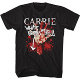 Carrie Burns In Hell Black T-Shirt