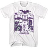 Hammer Horror Double Creature Feature Dracula Frankenstein White T-Shirt