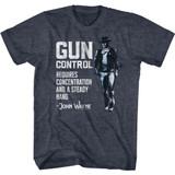 John Wayne Gun Control Navy Heather T-Shirt