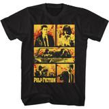 Pulp Fiction Blood Comic Black T-Shirt