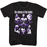Silence of the Lambs Collage Black T-Shirt