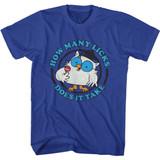 Tootsie Roll Mr Owl Blu Text Royal T-Shirt