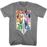 Voltron Sword Pilots and Lions Graphite Heather T-Shirt