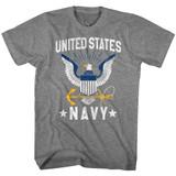 Navy US Navy Eagle Graphite Heather T-Shirt