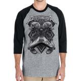 Dirkschneider Flying V Raglan Baseball Grey T-Shirt
